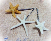 Starfish Hair Clip Natural Sea Shell Hair Beach Wedding Bridal Bobby Pin Arial Little Mermaid Costume Naudical Clip