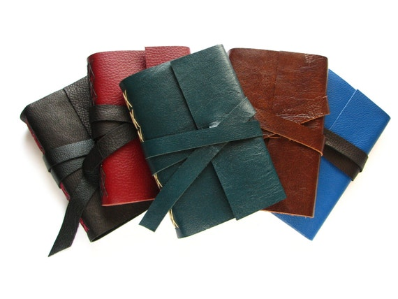 "4"" x 6"" Leather Journal - Customize - Choose your Leather & Thread colours"