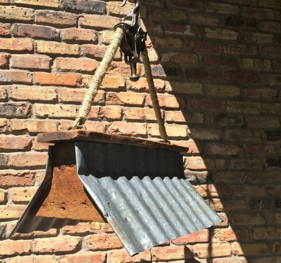 Items Similar To Rustic Light Pendant Lighting Pulley On Etsy