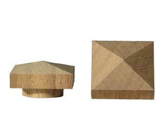 "75 piece 3/4"" Large Walnut Low Profile Pyramid Top Hole Plugs MEGA PACK"