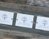 Picture Frame - Triple 5x7 - Distressed Wood - Holds 3 - 5x7 Photos - Gray & White