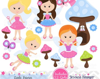 INSTANT DOWNLOAD, colorful fairy clipart, fairies clip art, for commercial use, personal use, cards, scrapbooking, invites