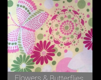 Flowers and Butterdlies Bandana