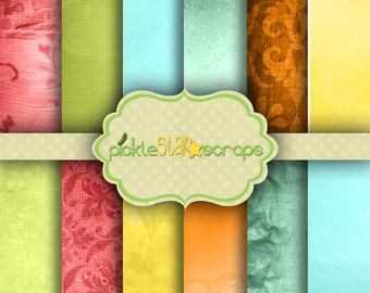 Printable Papers Summer Papers Garden Papers Summer Backgrounds Craft Paper Summer Craft Seaview 12x12inch - INSTANT Download