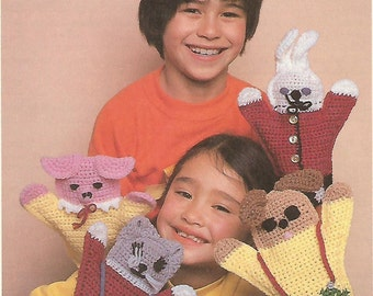 Hand Puppets Crochet Pattern No  67 Instant Download