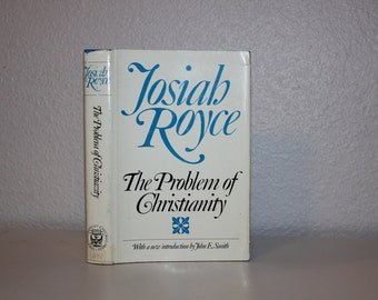 Vintage Books, The Problem of Christianity, Josiah Royce, 1968, Vintage Book, Blue Book, Religious Book, Hardback with Dustjacket