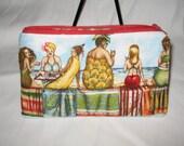 BEACH BABES n Castles zipper cosmetic bag/ pouch / wallet