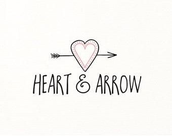 heart logo hand drawn premade logo doodle - Logo Design #117