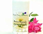 Natural Deodorant Tube with Grapefruit Essential Oil - Homemade Organic Deodorant stick  with Tea Tree Oil Aluminum Free