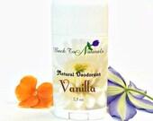 Vanilla Deodorant Natural- Organic Deodorant Stick with Tea Tree Oil and Organic Coconut Oil - Homemade Deodorant Tube