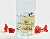 Cinnamon Natural Deodorant - Organic Deodorant Stick with Tea Tree Oil and Organic Coconut Oil - Homemade Deodorant Tube