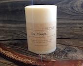 Nag Champa Soy Pillar Candle Large Patchouli Scented Soy Candle Large Boho Soy Pillar Candle White Candle