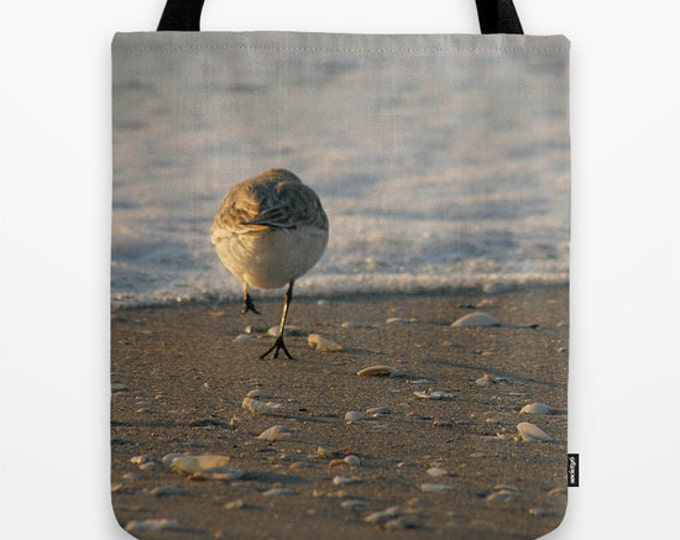 Can't Catch Me Photo Tote Bag, Photo Tote, Bird Photography, Tote Bag, Reusable Bag, Nature, Beach