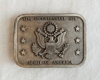 Vintage Bicentennial belt buckle…1776-1976…Spirit of America…Napoleon Emperor belt buckle.