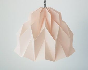 RUFFLE: Origami Paper Lamp Shade - Pink / FiberStore by Fiber Lab