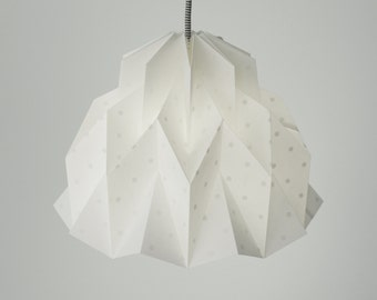 Limited Edition RUFFLE: Origami Paper Lamp Shade - The Amazing Polka Dots