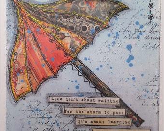 Umbrella Greetings card