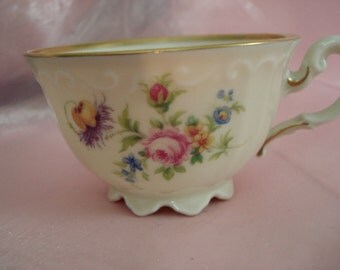Vintage Shabby Teacup Pink Rose China Cottage Chic Tiny Teacup