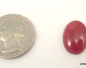 Red Mountain Jade Cabochon, 18 x 13 mm