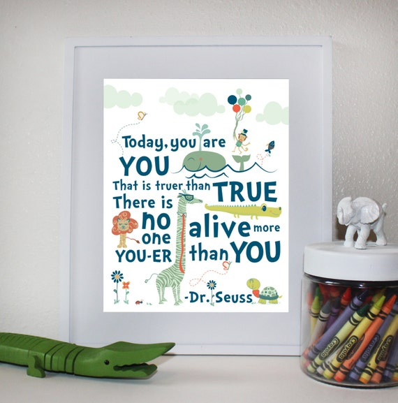 Dr Seuss Quote Wall Art 8x10 Instant Download