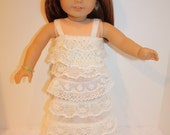 """18"""" Doll Ivory Lace Skirt and Lace Top"""