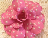 Joan Rivers Polka Dot Flower Brooch