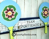 Pickleball Paddleball Tennis Racket Tennis Raquet Sports Wall Rack Team Art Athletic Home Decor Personalized Team Sporty Home Phys Ed