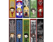 Avengers Bookmarks - Thor, Loki, Ironman, Captain America, Hawkeye, Black Widow, Bruce Banner, Coulson - Avengers Chibi Bookmarks