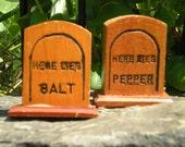 salt and pepper tomb stones