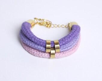 Purple Rain - Bracelet in lavender, purple and light pink