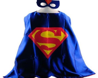 Reversible Satin Superhero Cape with Mask! USA Shipper