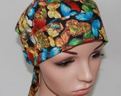 Surgical Scrub Hat,Chemo Hat, Nurses Surgical Scrub Hat, Women's Surgical Scrub Hat, Swarming Butterflies