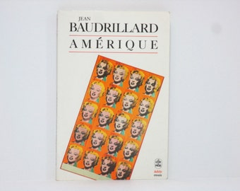 Amerique by Jean Baudrillard 1968 Vintage French Language Book
