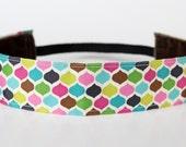 "Multi Geo NonSlip Headband 1.5"", NoSlip Headband, Workout Headband, Running, Spinning, Exercise, Mother's Day Gift, Gifts Under 10"