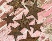 Wish Upon A Star Rusty Metal Stars 8 Count