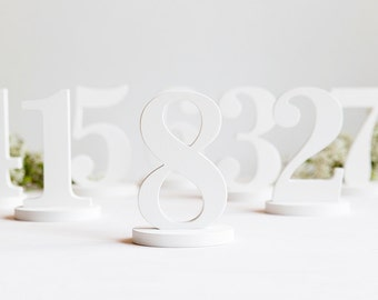 Wooden table numbers, free standing, wedding table numbers, DIY, unpainted, painted, custom colors