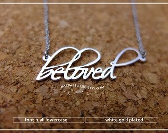 20% off // Font 1 // lowercase // Personalized name necklace /gift wrap included. mother- graduation-bridesmaid - Valentine gift.