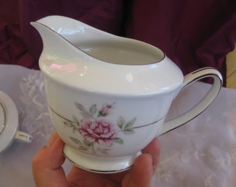 Crown Jewel Majestic  Rose Creamer with platinum  accents Near MINT