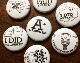 Adult Reward One Inch Buttons, good job