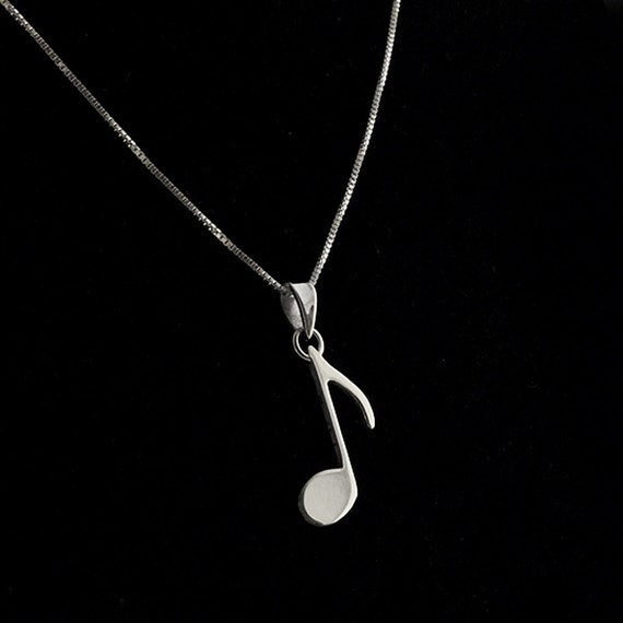 music note necklace G clef Treble clef Necklace silver music note Pendant charm necklace sol key pendant with 925 Silver Chain