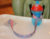 Sippy Cup Leash   Sippy Strap   Sippy Cup Strap Suction Cup   Bottle Tether   Sippy Cup Strap   Suction Sippy Strap   Nautical Chevron