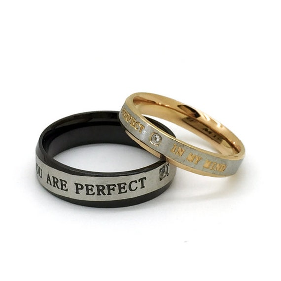 couples titanium promise rings for both and set of 2