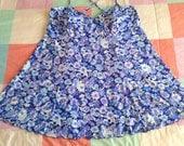 Vintage 90s Plus size Blue Daisy Swim Dress