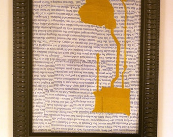 Pull Chain - Framed Mixed Media
