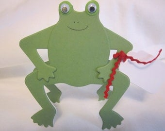 Set of 12 Frog Favor Tags, Place Cards, Decorations, Name Cards, Table Tents, Invitations, Baby Shower Place Cards, Escort Card
