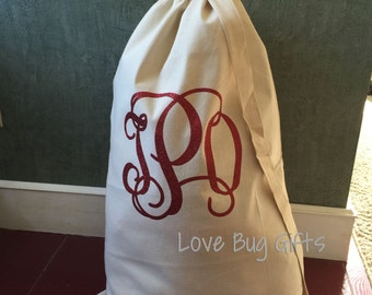 Monogrammed Laundry Bag - XL **With carrying strap**