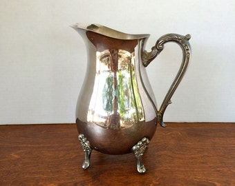 Vintage Silver Plated Water Pitcher Leonard Made