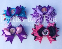 Little Mermaid Bow, Rapuzel Tangled Bow, Minnie Mouse Bow, Disney Vacation, Sophia The First Bow, Disney Trip, Little Mermaid Party favors