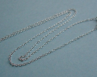 Finished Chain, Sterling Silver .925, 16 Inch, Stringing Cable with Spring Ring, 1.2mm, SFCH132