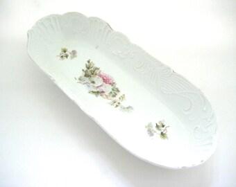 Vintage Oblong Dresser Tray or Relish Dish